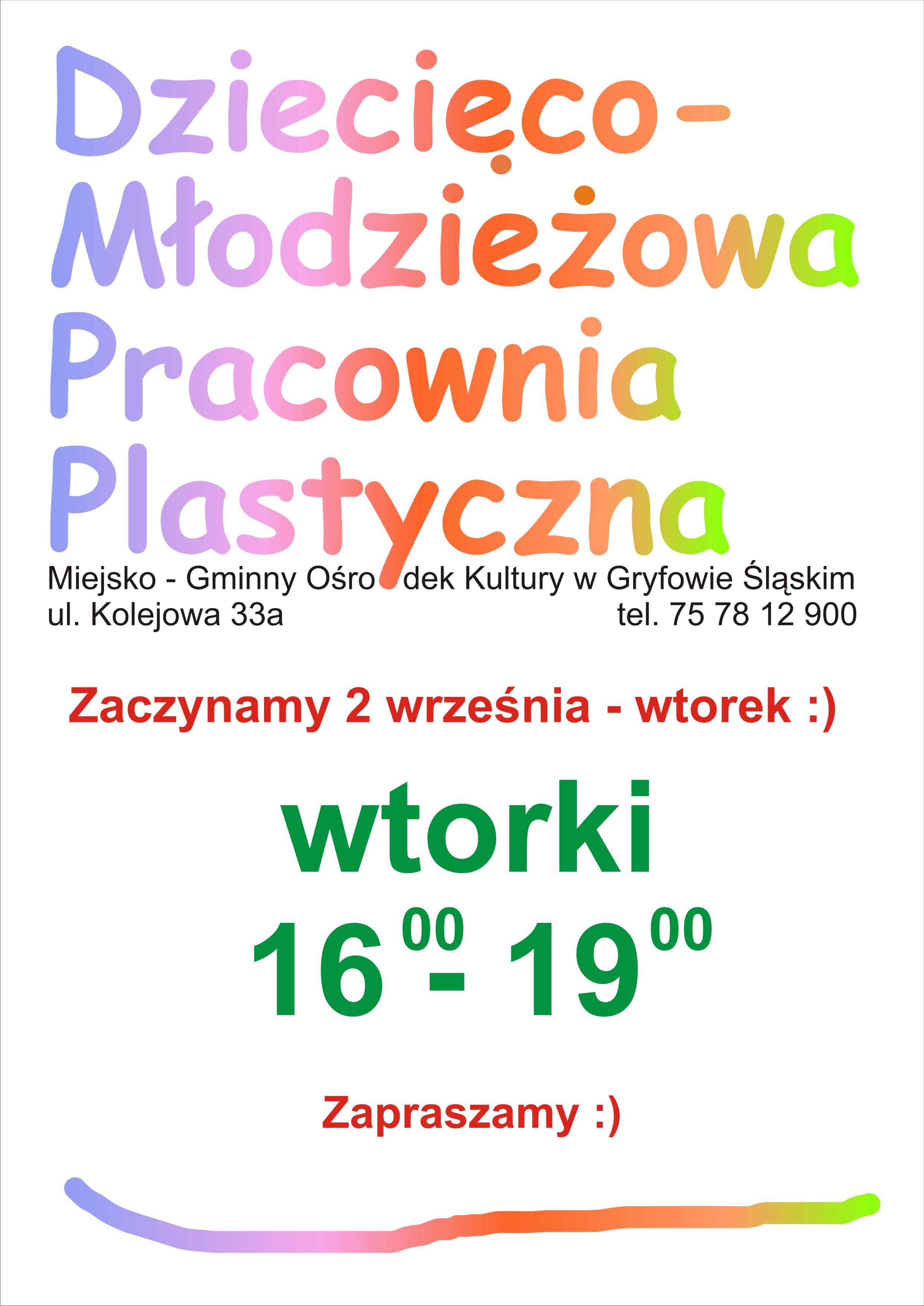 M-GOK_plakat_zajęcia_wtorki_krzywe